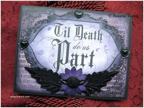 Gothic Wedding Invitations Gothic Wedding or Anniversary Greeting Card Til Death Do