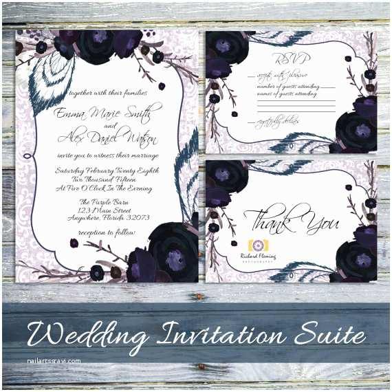 Gothic Wedding Invitations Printable Steampunk Wedding Invitations