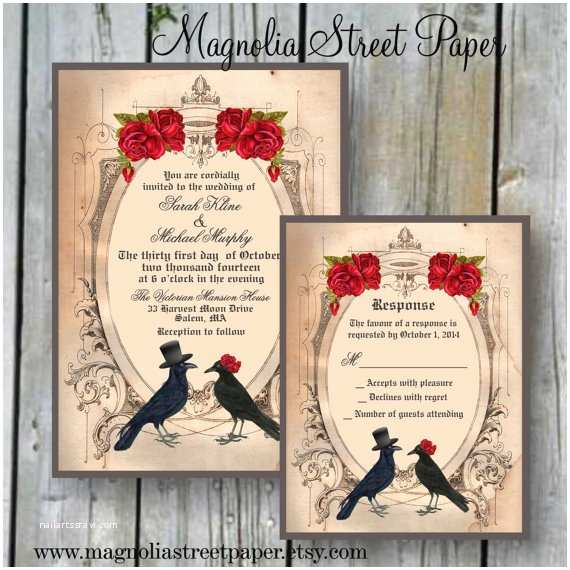 Gothic Wedding Invitations Spooktacular Halloween Wedding Invitations • Glitter N Spice