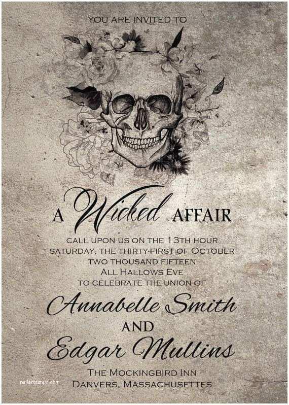 Gothic Wedding Invitations Spooktacular Halloween Wedding Invitations