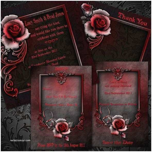 Gothic Wedding Invitations Wedding Invitation Wording Gothic Wedding Invitation