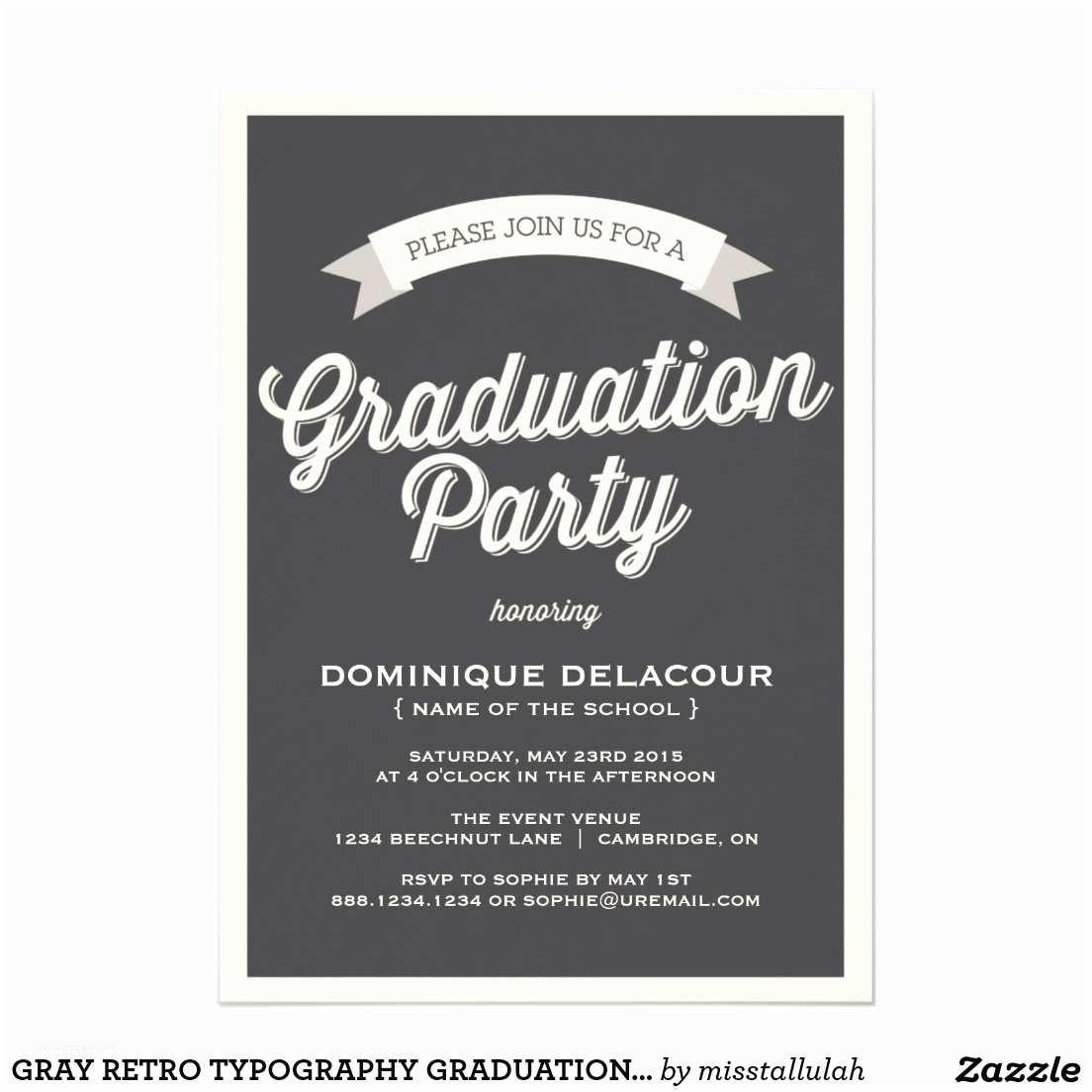 Grad Party Invitations Graduation Party Invitation Sansalvaje
