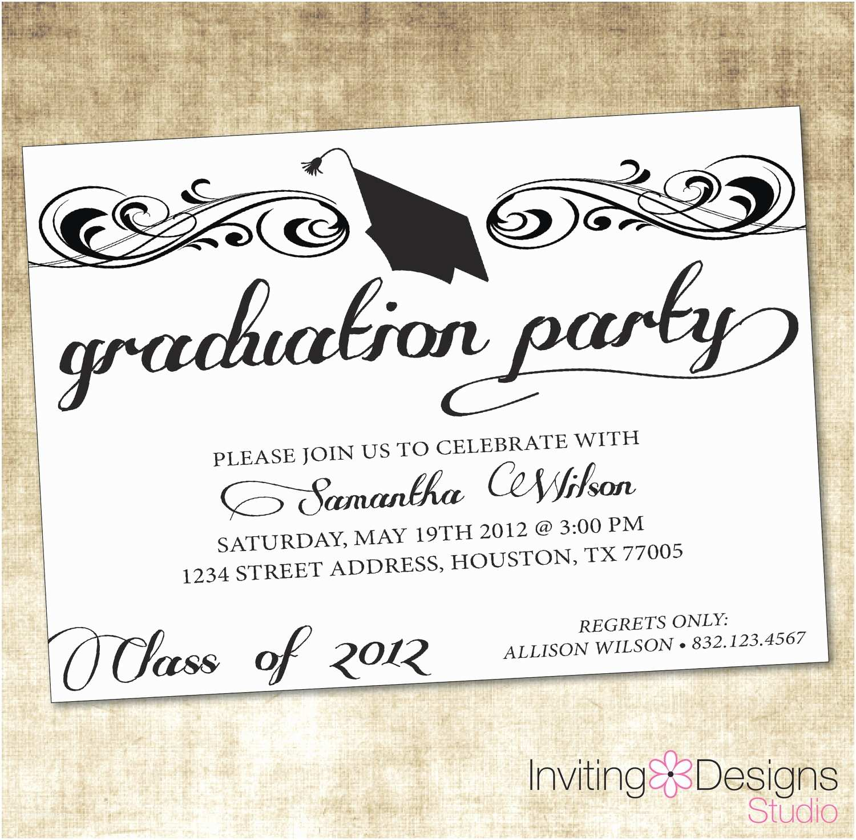 Grad Party Invitations Party Invitations How to Create Grad Party Invitations