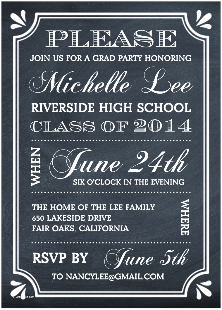 Grad Party Invites Create the Perfect Graduation Party Invitation