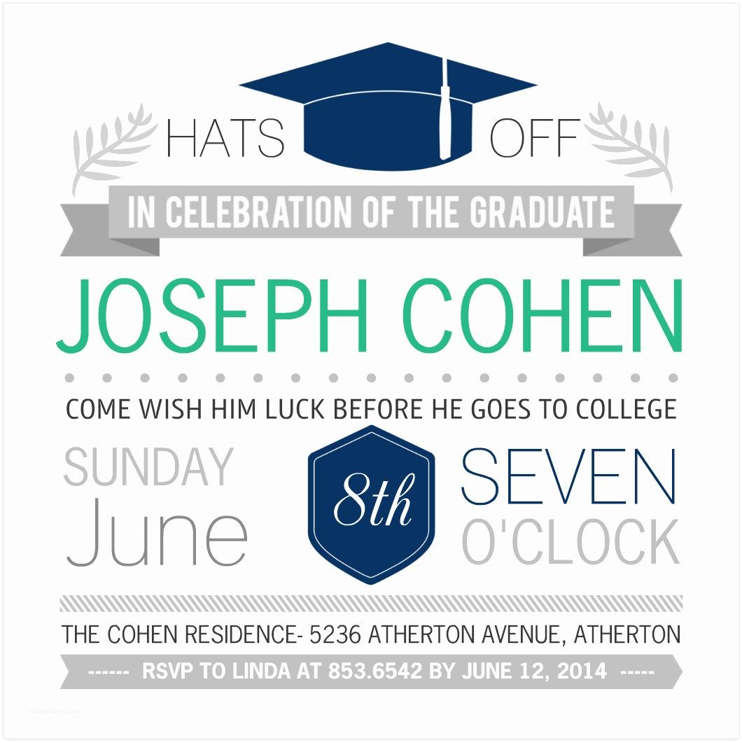 Grad Party Invites Create the Perfect Graduation Party Invitation