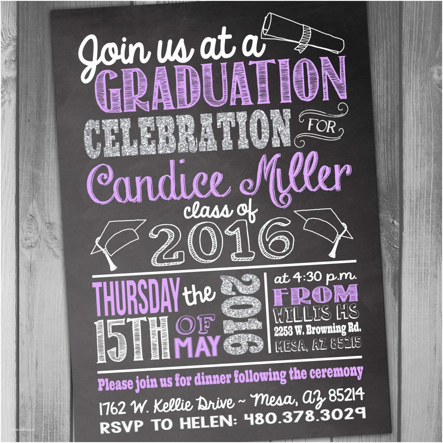 Grad Party Invites Graduation Invitation High School Graduation Graduation Party