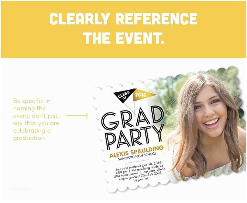 Grad Party Invites Graduation Invitation Wording Guide for 2018