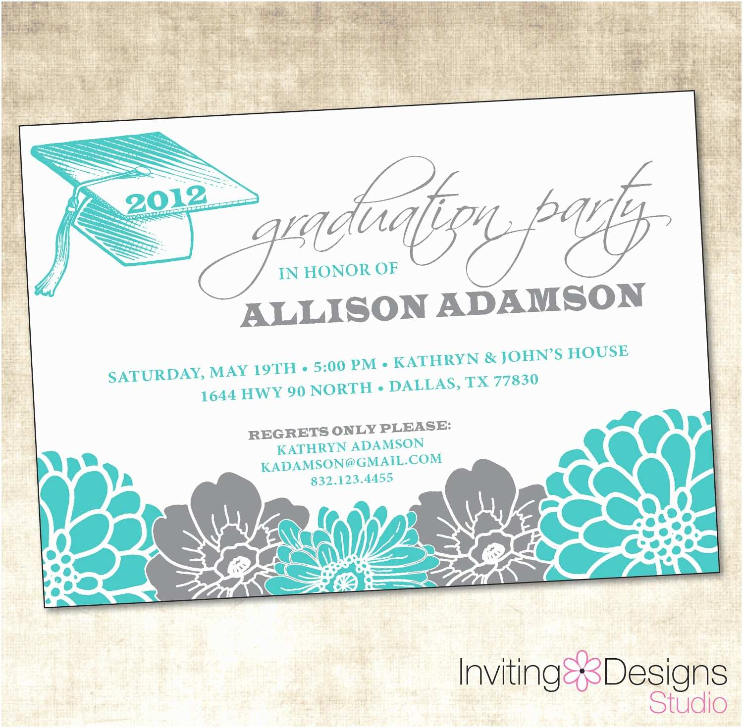 Grad Party Invites Graduation Party Invitation Printable File