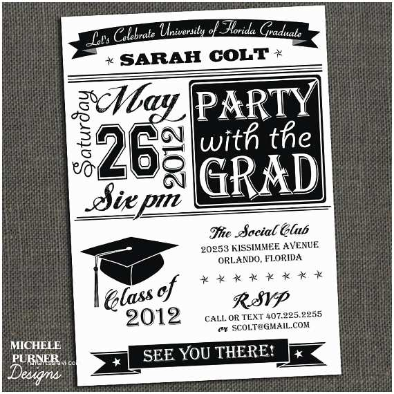 Grad Party Invites Items Similar to High School or College Graduation Party