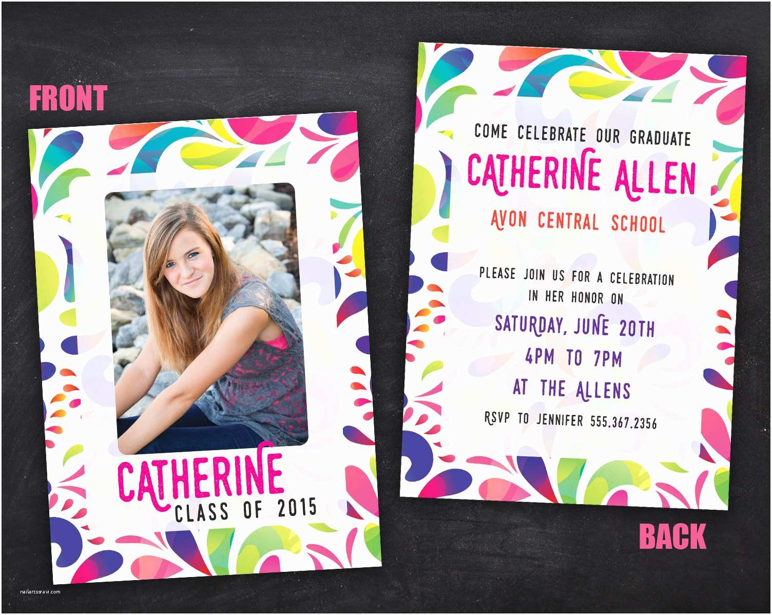 Grad Party Invites Senior Grad Party Invitations – Printing by Penny Lane