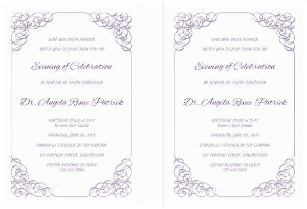 Graduation Ceremony Invitation 43 Printable Graduation Invitations