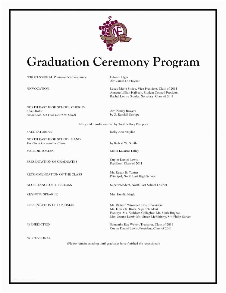 Graduation Ceremony Invitation Graduation Ceremony Program Template Invitation Template