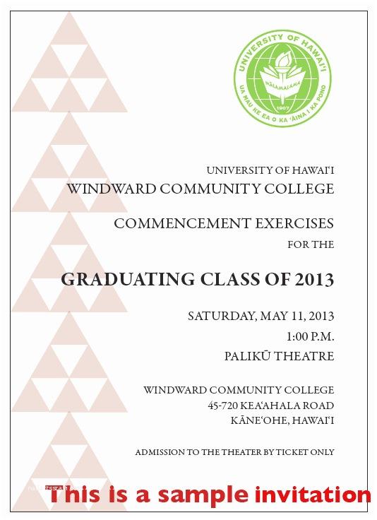 Graduation Ceremony Invitation Image Of the Invitation