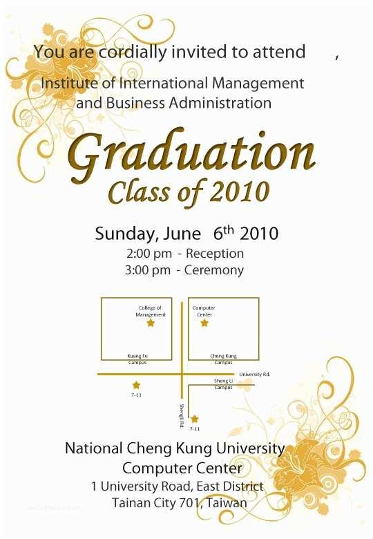 Graduation Ceremony Invitation Invite Advisor to Graduation Ceremony