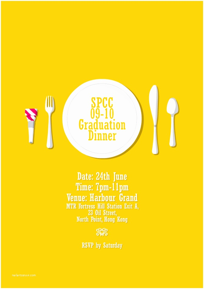 Graduation Dinner Invitations Graduation Dinner Invitation Jonathan Mak
