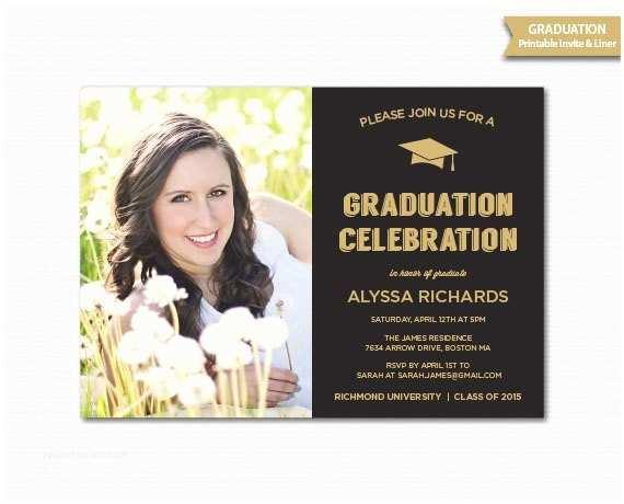 Graduation Dinner Invitations Graduation Invitation Grad Announcement Graduation
