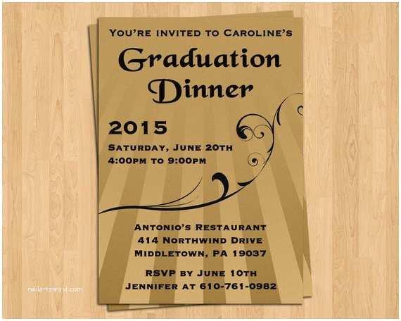 Graduation Dinner Invitations Items Similar to Graduation Invitation Dinner Invite