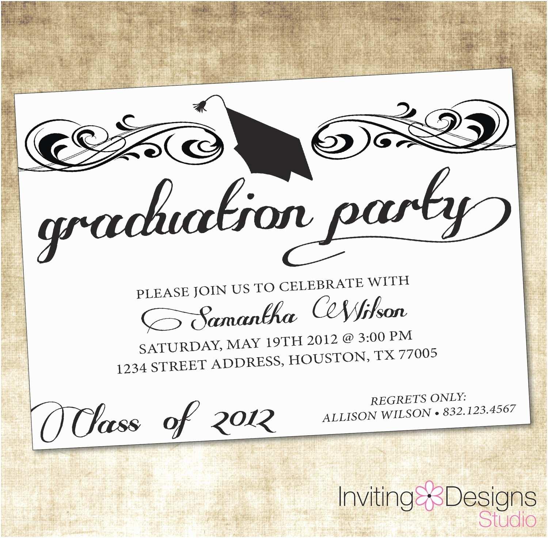 Graduation Invitation Examples Unique Ideas for College Graduation Party Invitations