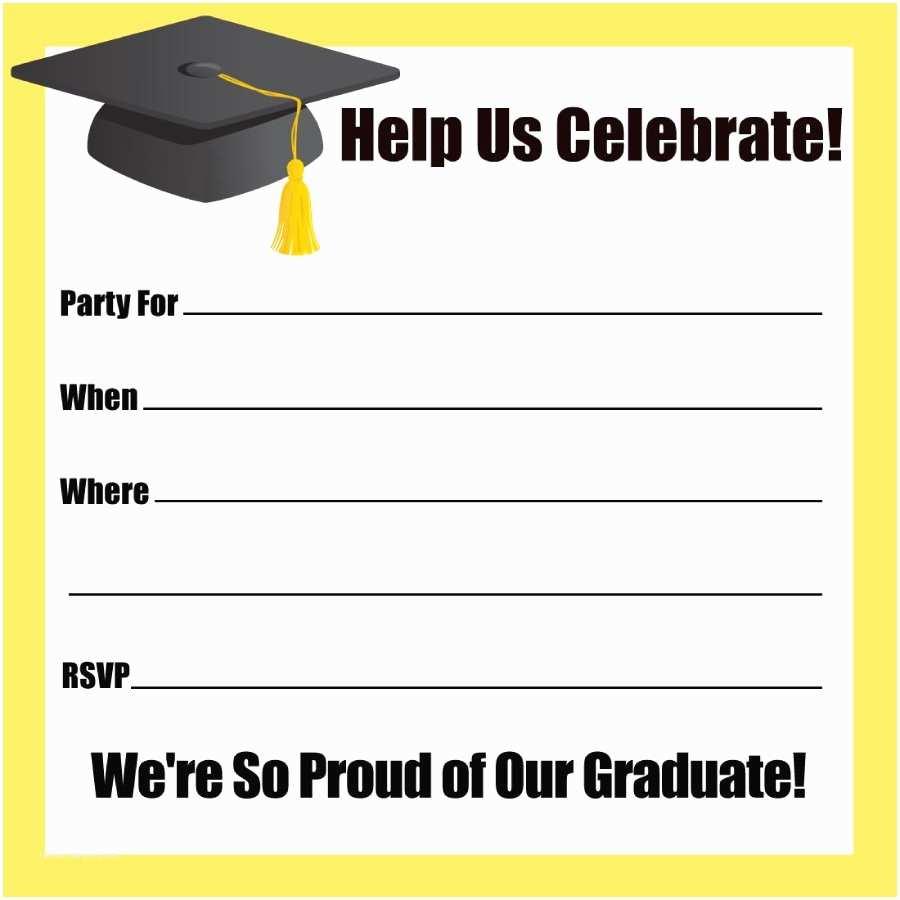Graduation Invitation Templates 40 Free Graduation Invitation Templates Template Lab
