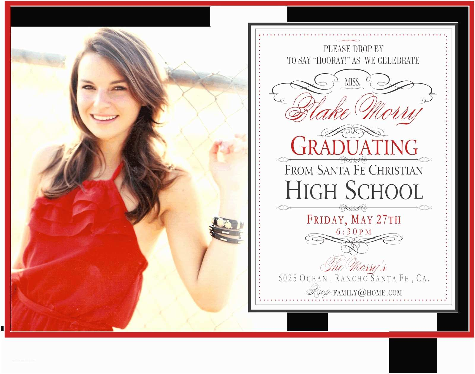 Graduation Invitation Templates High School Graduation Invitation Template Various