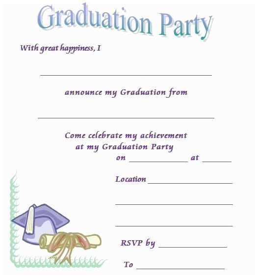 free printable graduation announcements