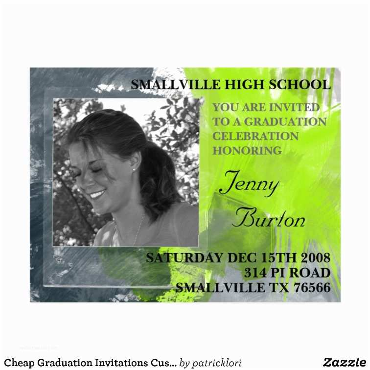 Graduation Invitations Cheap Cheap Graduation Invitations Custom Postcard