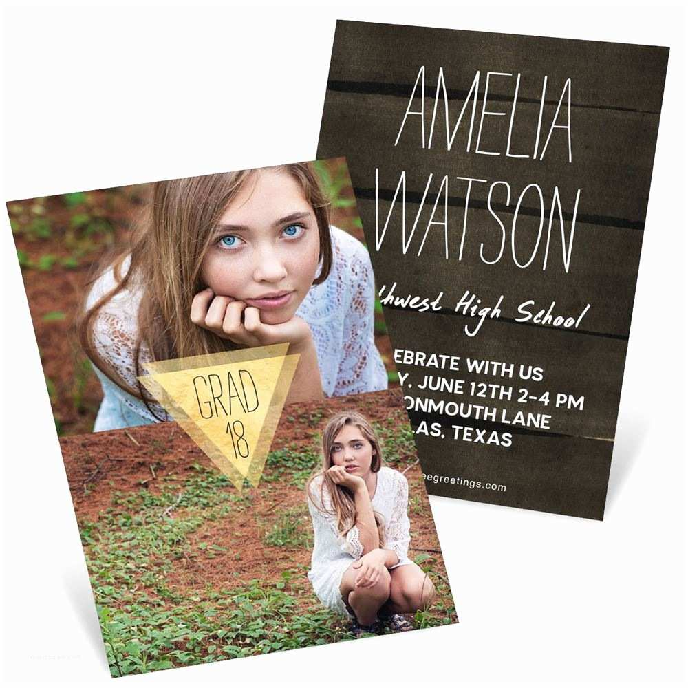 Graduation Invitations Good as Gold Vertical