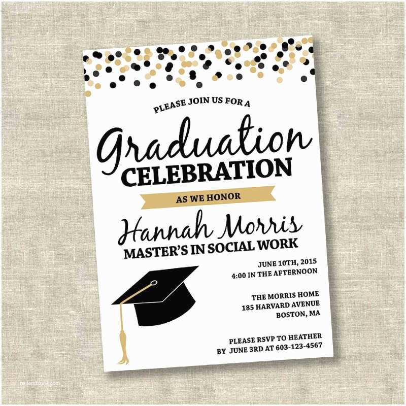 Graduation Invitations Graduation Invitation College Graduation Invitation High