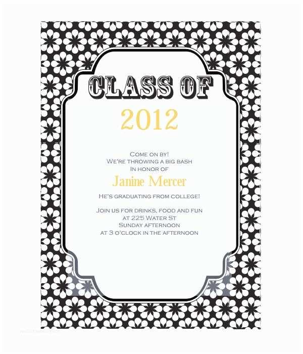 Graduation Invitations Templates Free 7 Graduation Invitation Templates