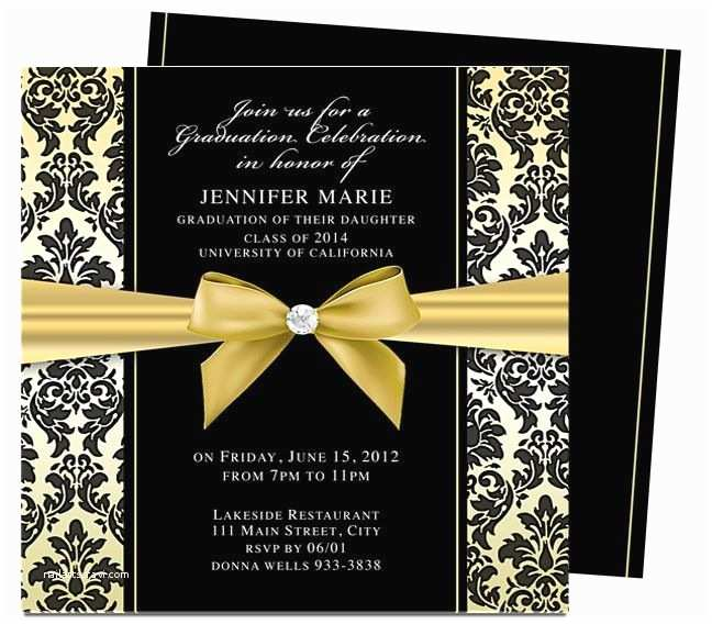Graduation Invitations Templates Free Dandy Graduation Announcement Invitation Template