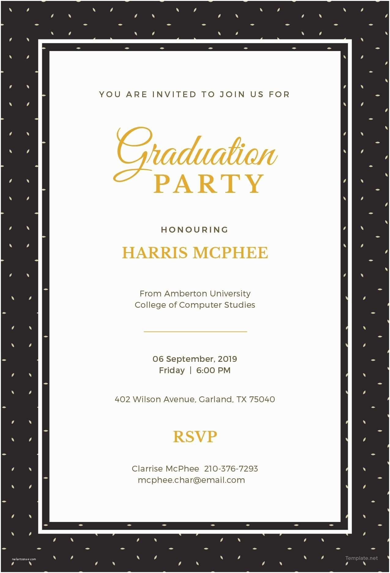 Graduation Invitations Templates Free Free Graduation Invitation Template In Adobe Shop