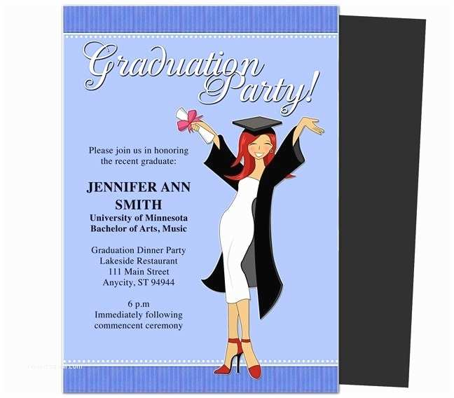 Graduation Invitations Templates Free Free Graduation Invitation Templates for Word