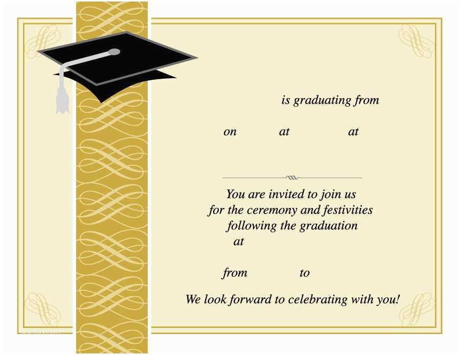 Graduation Invitations Templates Free Graduation Invitation Templates