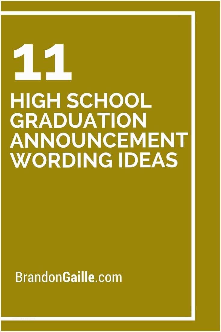 Graduation Open House Invitation Wording 11 High School Graduation Announcement Wording Ideas