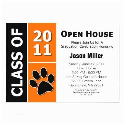 "Graduation Open House Invitations Graduation Open House 3 5"" X 5"" Invitation Card"