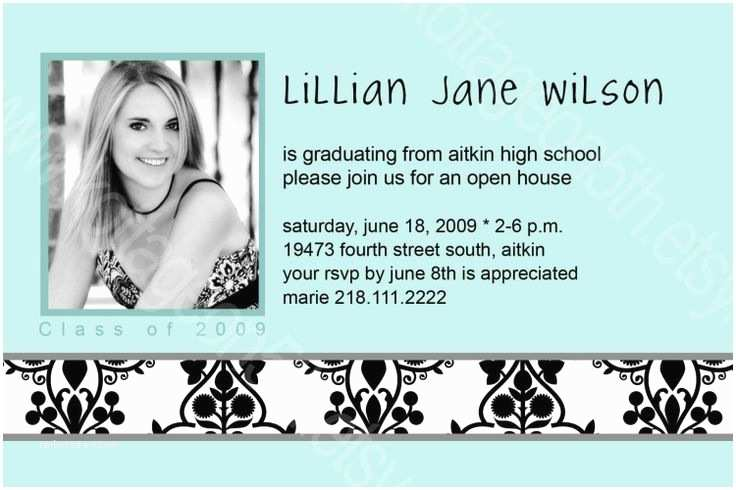 Graduation Open House Invitations Open House Graduation Party Invitation Wording