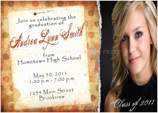 Graduation Open House Invitations Personalized Invitations