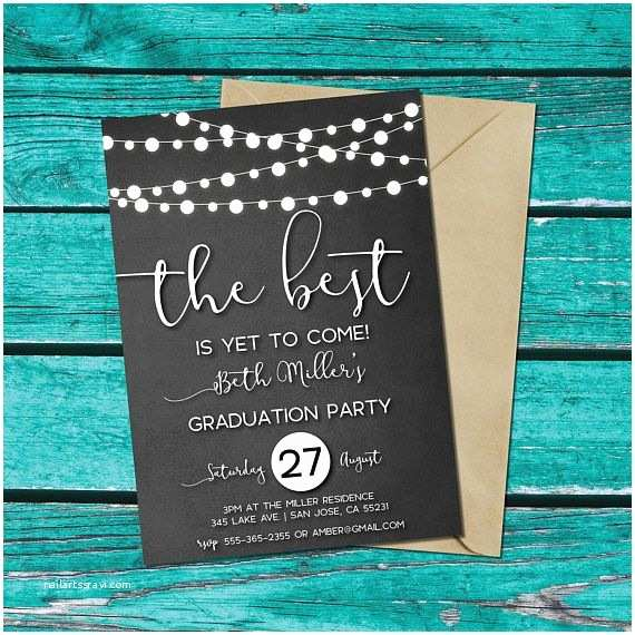 Graduation Party Invitation Ideas Graduation Party Invitation Chalkboard Background String