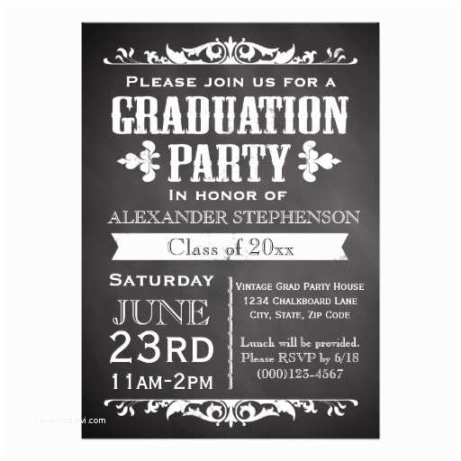 Graduation Party Invitation Rustic Slate Graduation Party Invitation