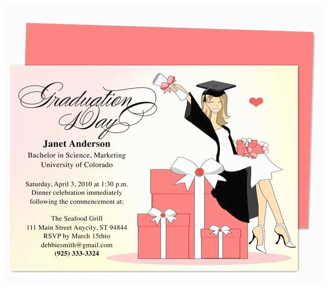 Graduation Party Invitation Templates Best 46 Printable Diy Graduation Announcements Templates