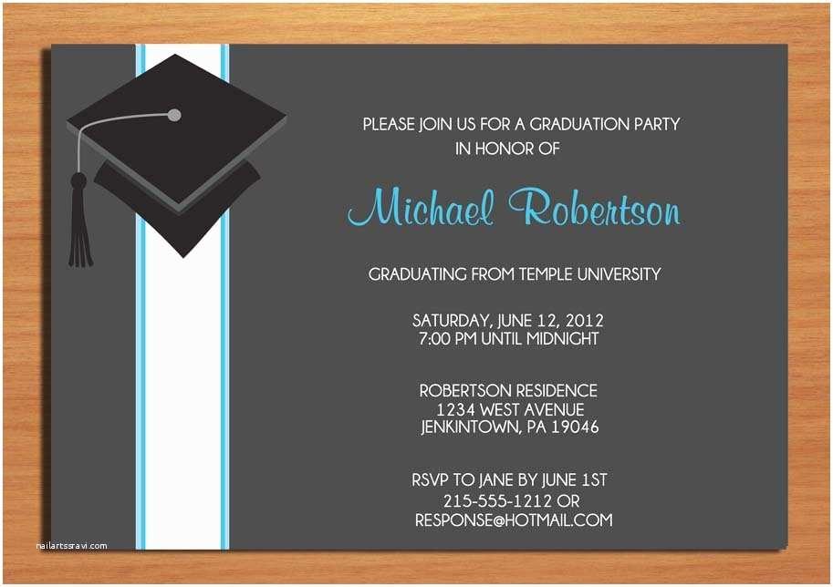 graduation party invitation templates unique ideas for college