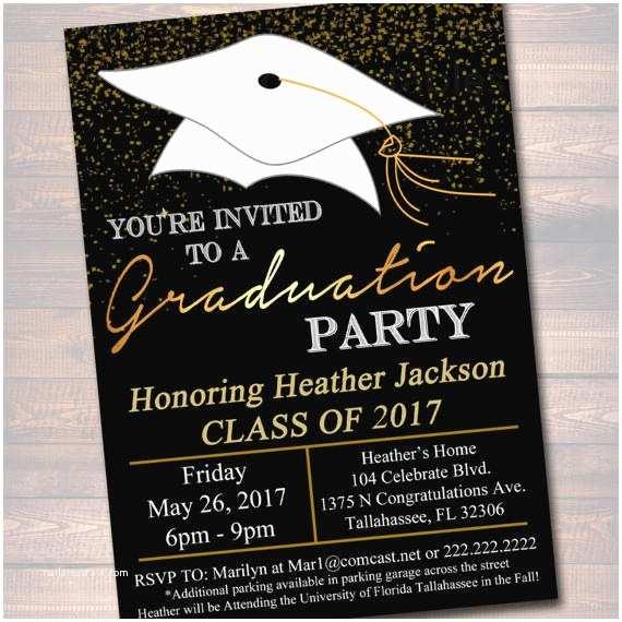 Graduation Party Invitation Wording Editable Graduation Party Invitation High School Graduation