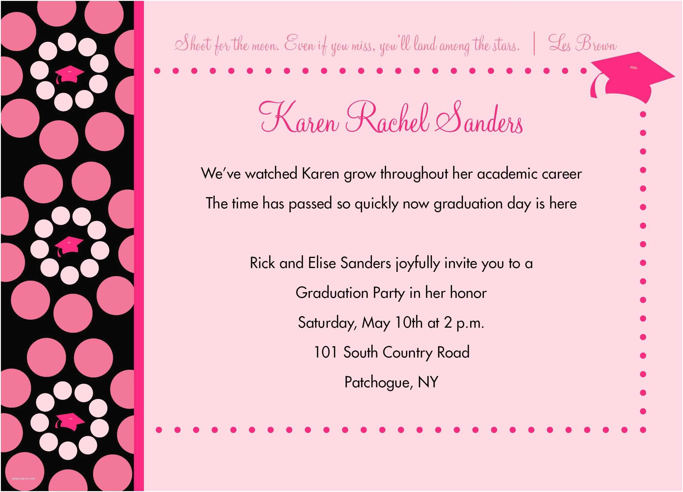 Graduation Party Invitation Wording Invitation Card for Graduation Party Invitation for