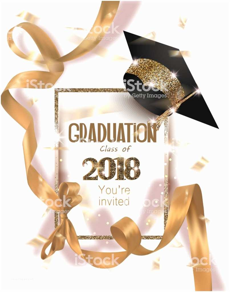 Graduation Party Invitations 2018 Carte Dinvitation Fête Graduation 2018 Avec Chapeau Et
