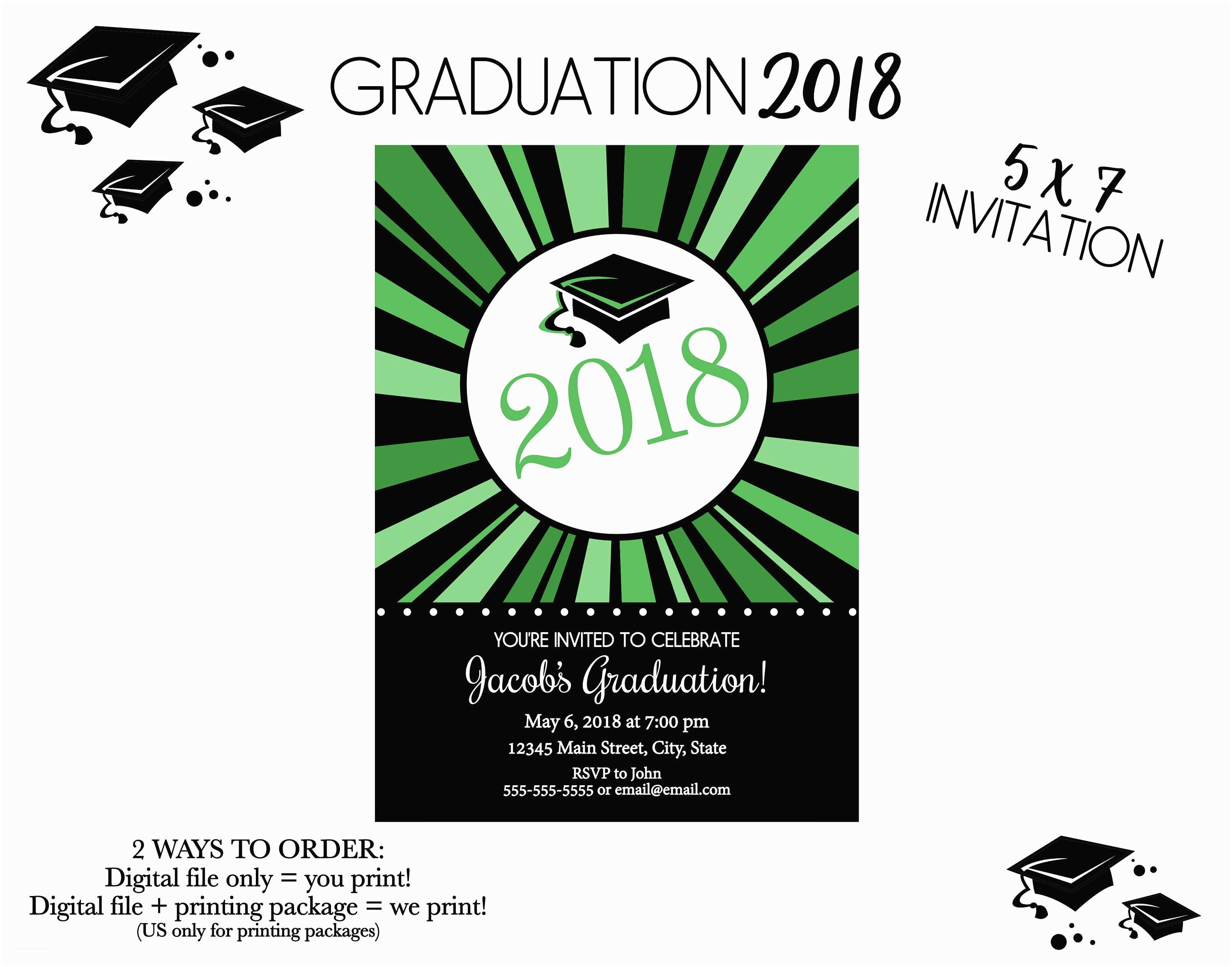Graduation Party Invitations 2018 Graduation Party Invitation Class Of 2018 High School