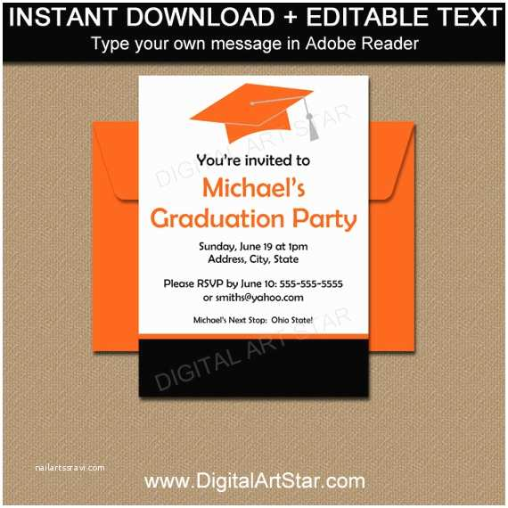 Graduation Party Invitations 2018 Graduation Party Invitation Template High School