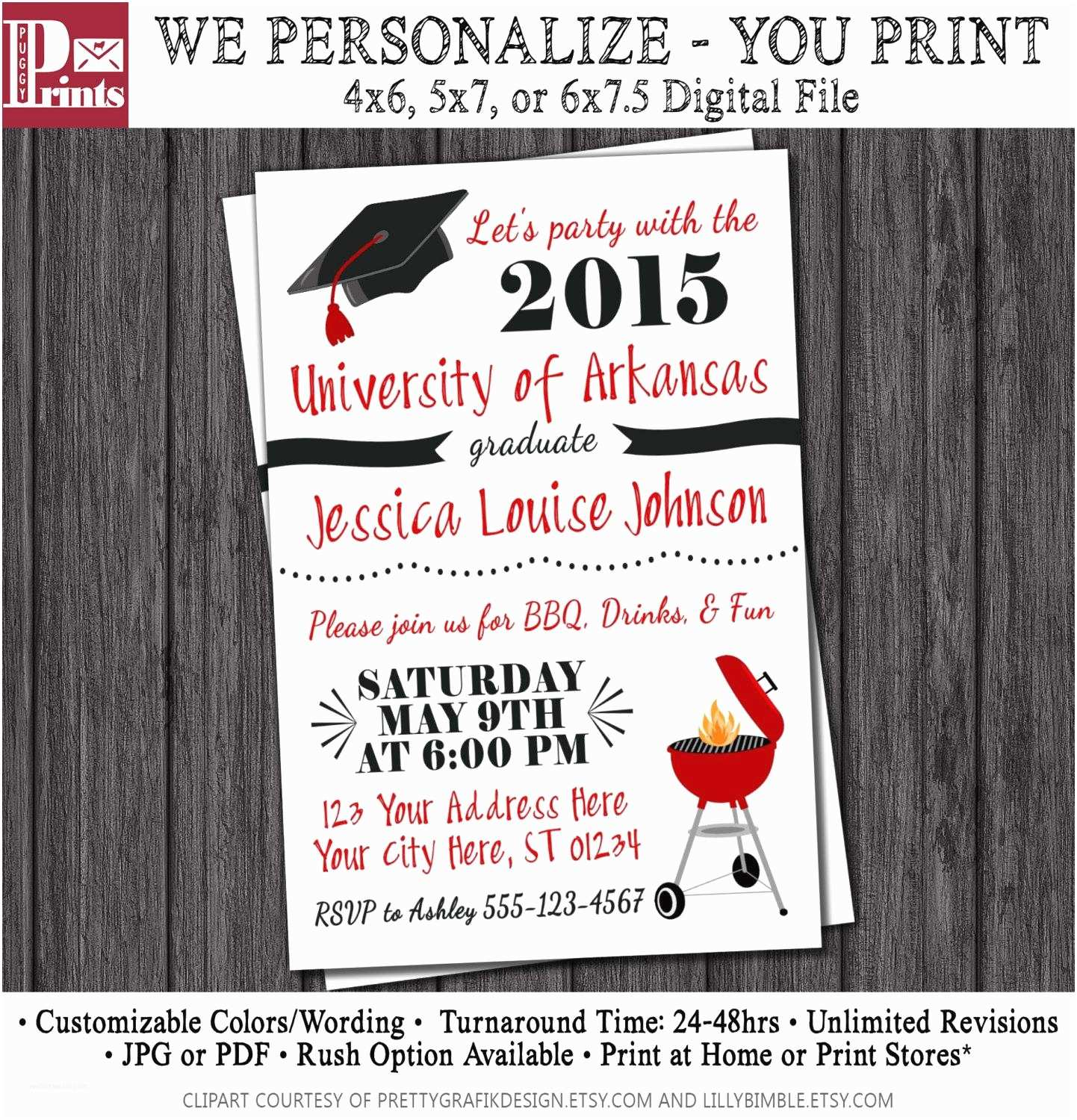 Graduation Party Invitations College Graduation Party Invitations