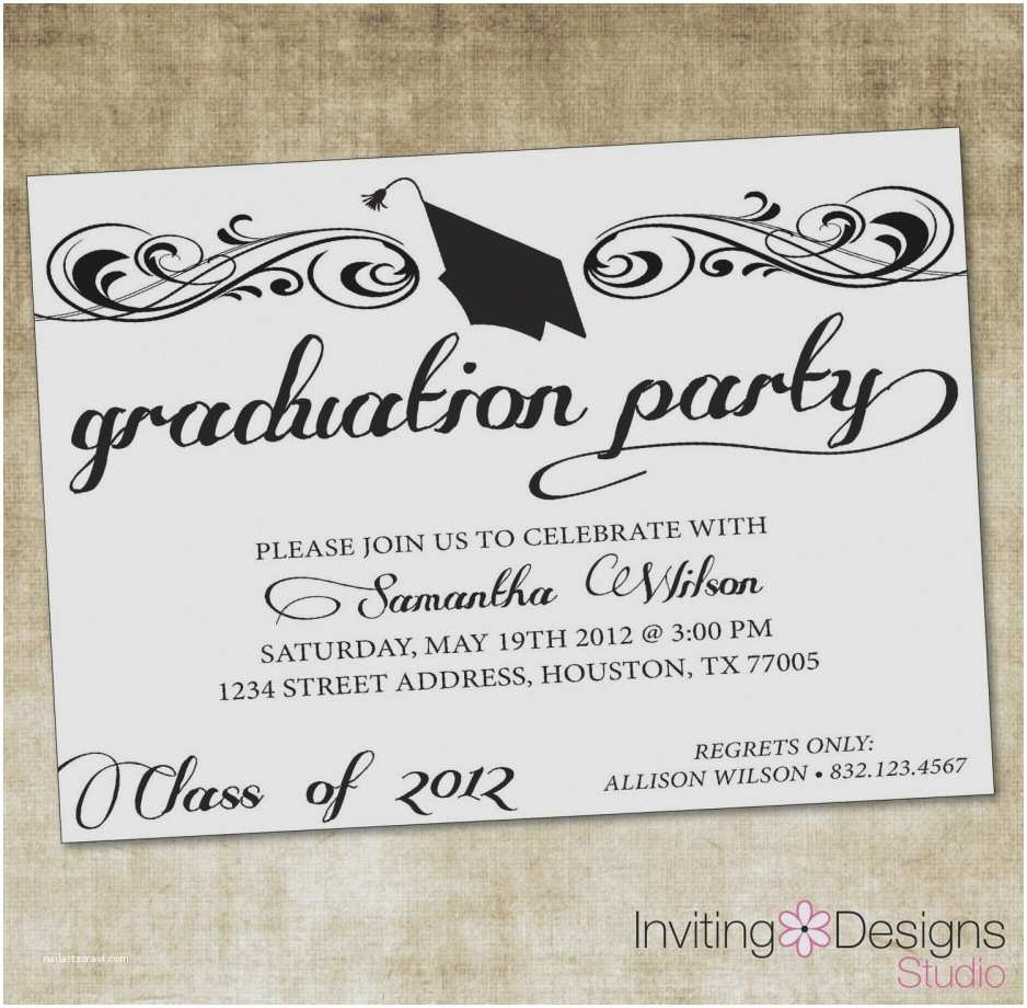 Graduation Party Invitations Gallery Wording for Graduation Party Invitations Sample