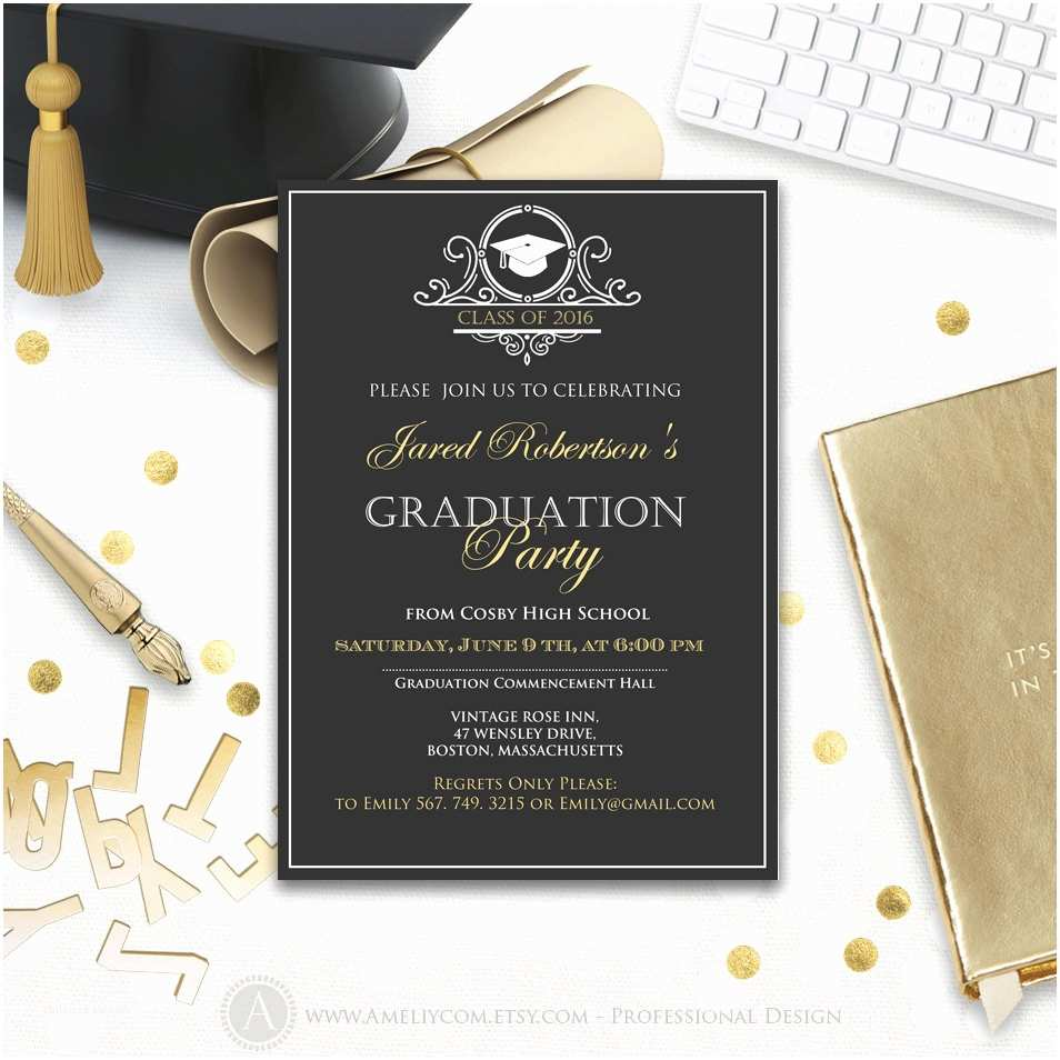 Graduation Party Invitations Graduation Party Invitation Printable Boy College Graduation