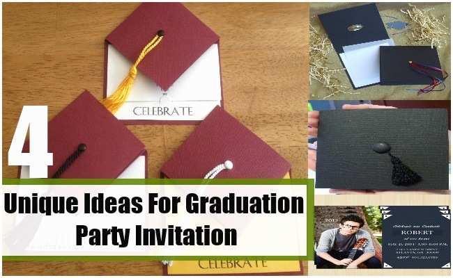 Graduation Party Invitations Ideas Unique Ideas for Graduation Party Invitation How to Make